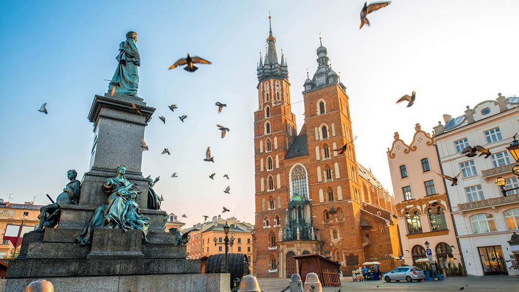 Polen Krakow floden Sukuennice markedet pladsen