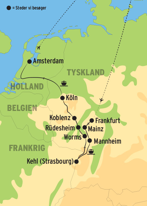 Flodkrydstogt Pa Rhinen Til Amsterdam L Kulturrejser Europa