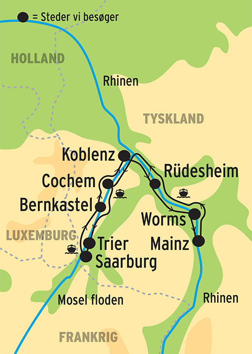 Krydstogt Pa Rhinen Og Mosel Hold Afslappet Ferie I Sydtyskland