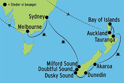 Kort Af Australien Og New Z Fra Kaarsten Mostphotos