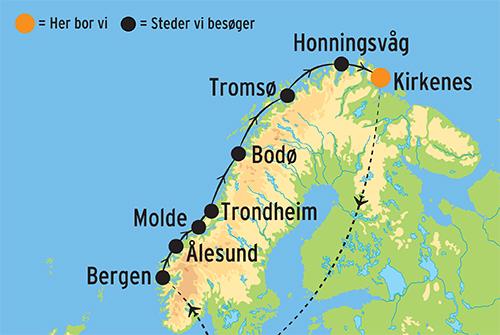 Krydstogt Til Nordkap Nordlysets Rige Kulturrejser Europa