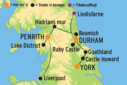 Rundrejse I Nordengland Betragt Bla Hadrians Mur Pa Denne Tur