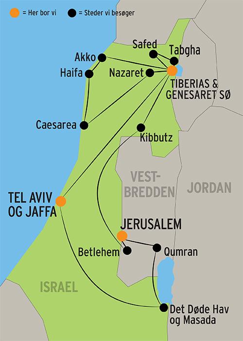 Rejse Til Israel M Dansktalende Rejseleder Og Halvpension
