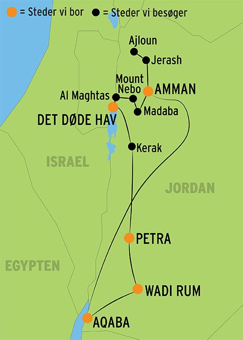 Rundrejse I Jordan L Direkte Fly Til Amman M Dansktalende Guide