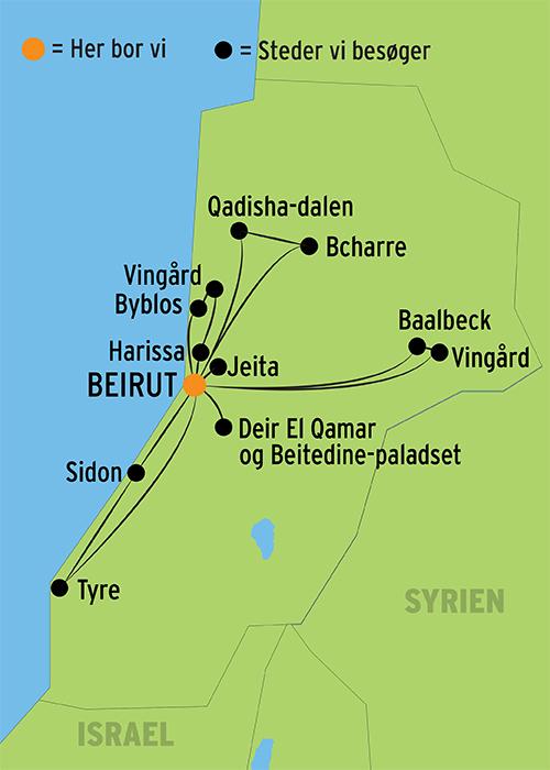 Rejse Til Libanon M Dansk Rejseleder Og Ophold I Beirut Book Her