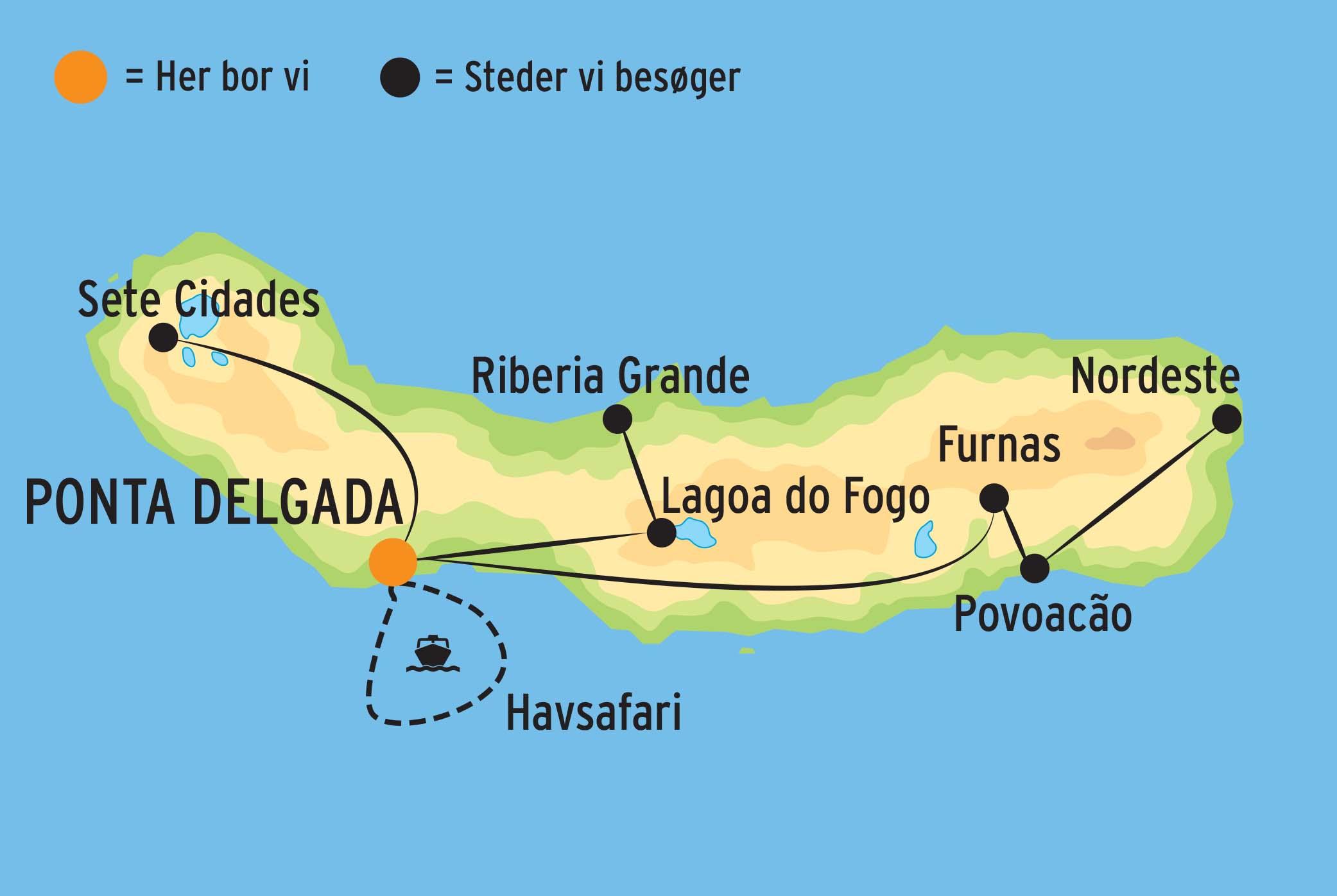 Rejse Til Azorerne Og Sao Miguel M Direkte Fly Til Den Gronne O