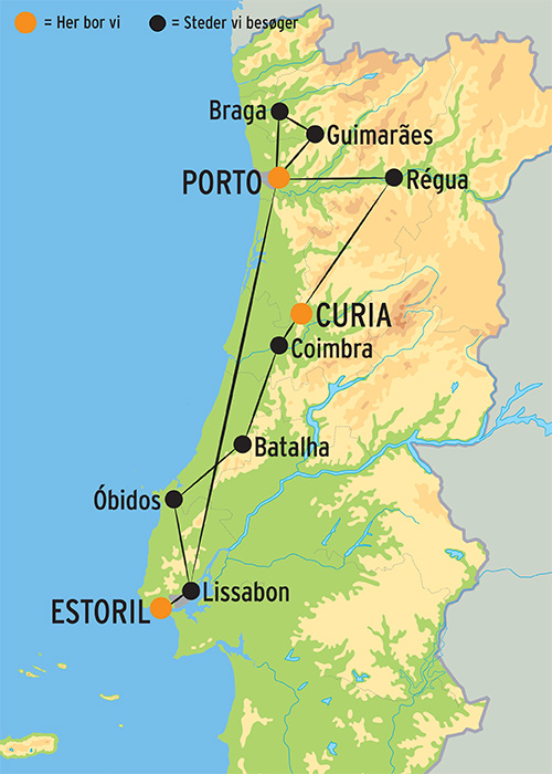 Kort Over Det 19 Arhundrede Spanien Og Portugal Plakat Pixers