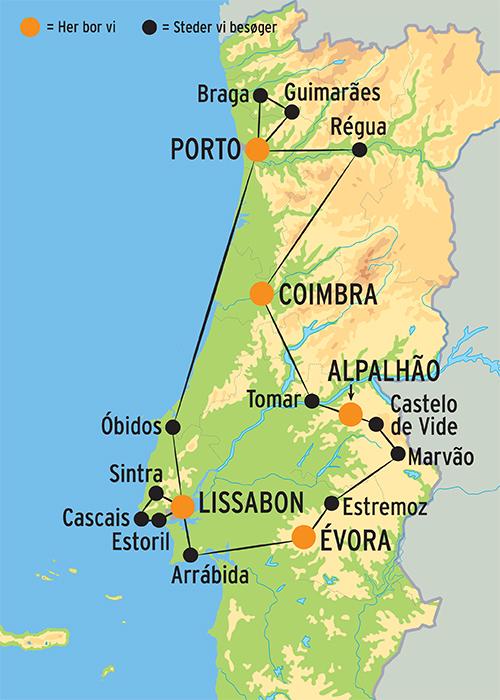 Rundrejse I Portugal Fra Porto Til Lissabon Se Rejsedetaljer Her