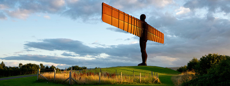 Skulpturen Angel of the North, England