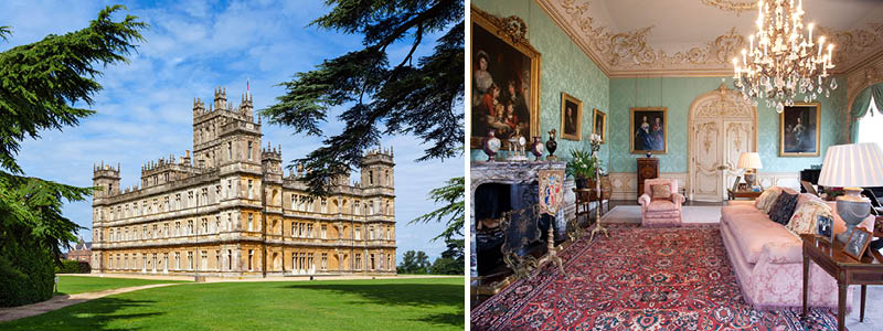 Highclere Castle fra Downton Abbey