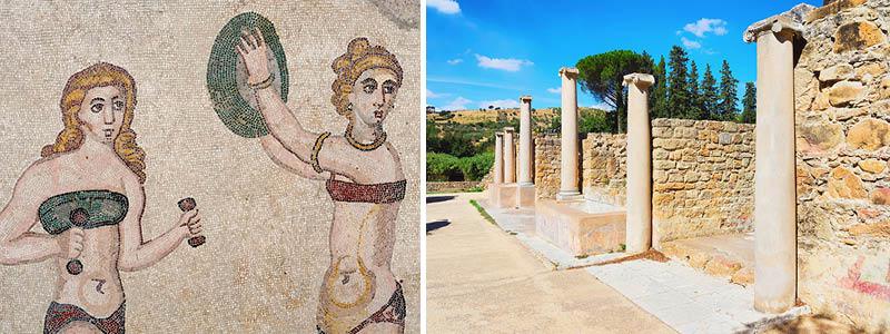 Sicilien: Villa Romana del Casale med sine gulvmosaikker