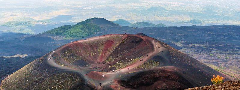 Monti Silvestri kraterne, Sicilien