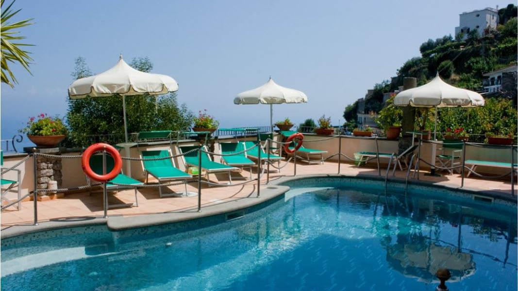 Hotel Bonadies i Ravello, udsigt, pool
