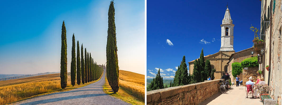 Pave Pius ll's by, Pienza, Italien