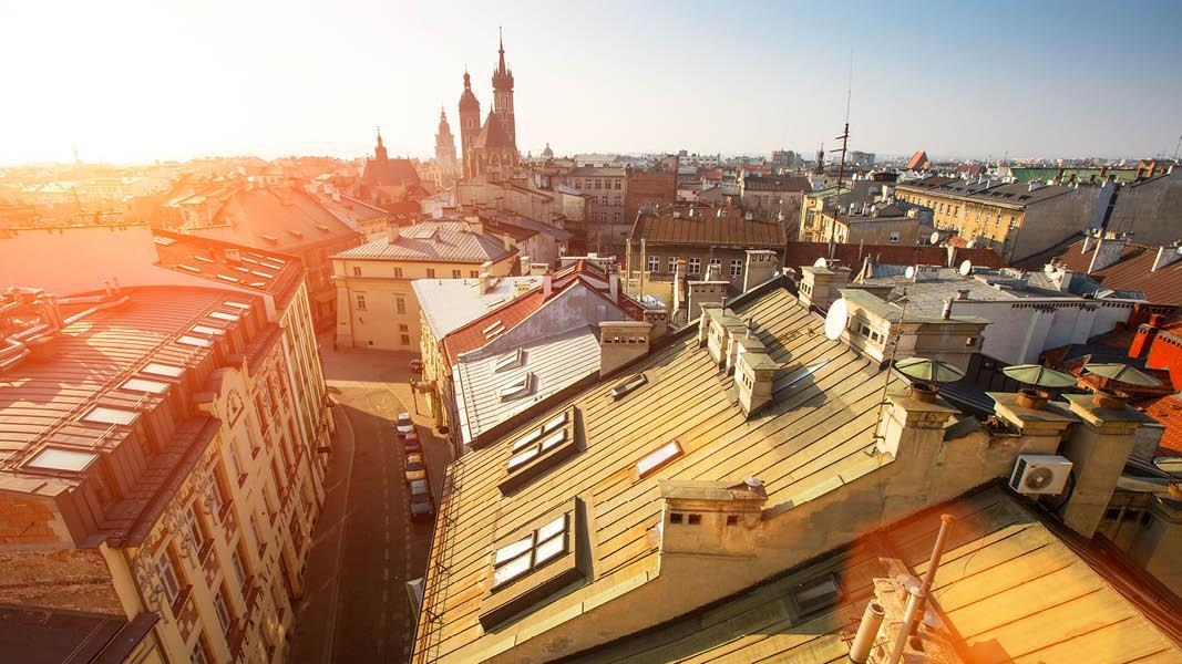 Polen udsigt over Krakow St. Mary Basilica
