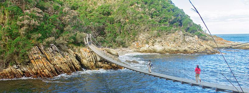 Suspension Bridge over Storms River, Sydafrika