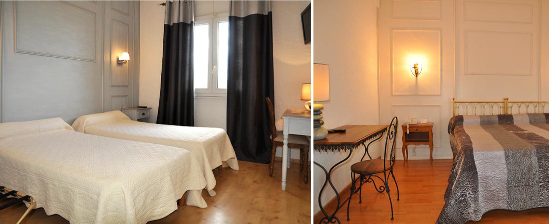 Rums�versikt p� hotell Castellu Rossu. P� resa till Korsika.