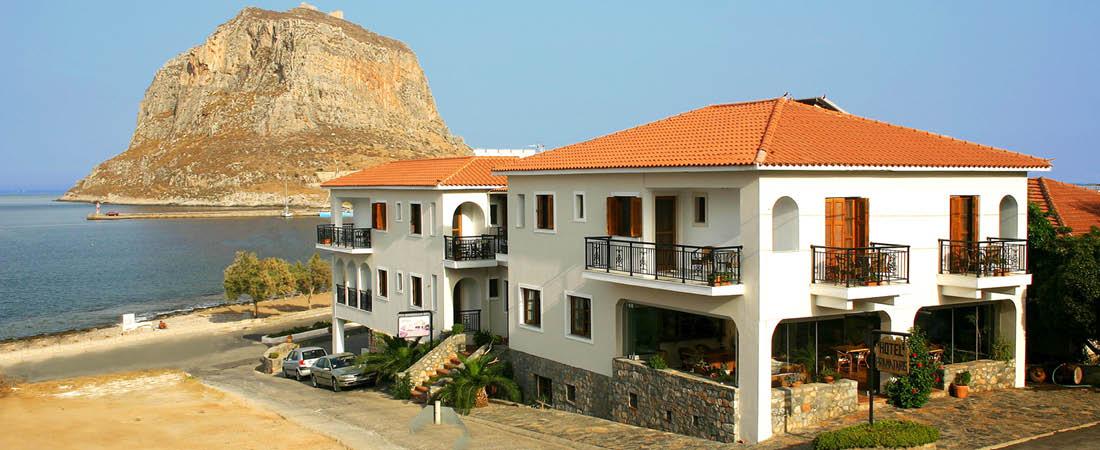 Hotell Pramataris med strandläge och havsutsikt, Peloponnesos.