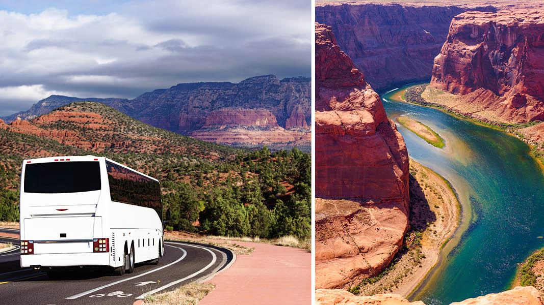 Rute mod Grand Canyon, USA's vestkyst