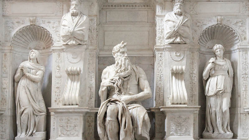 Italien, Rom, Kirke San Pietro Vincoli, moses statue