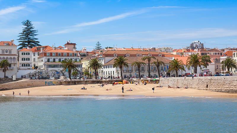 Perler omkring Lissabon, cascais strand