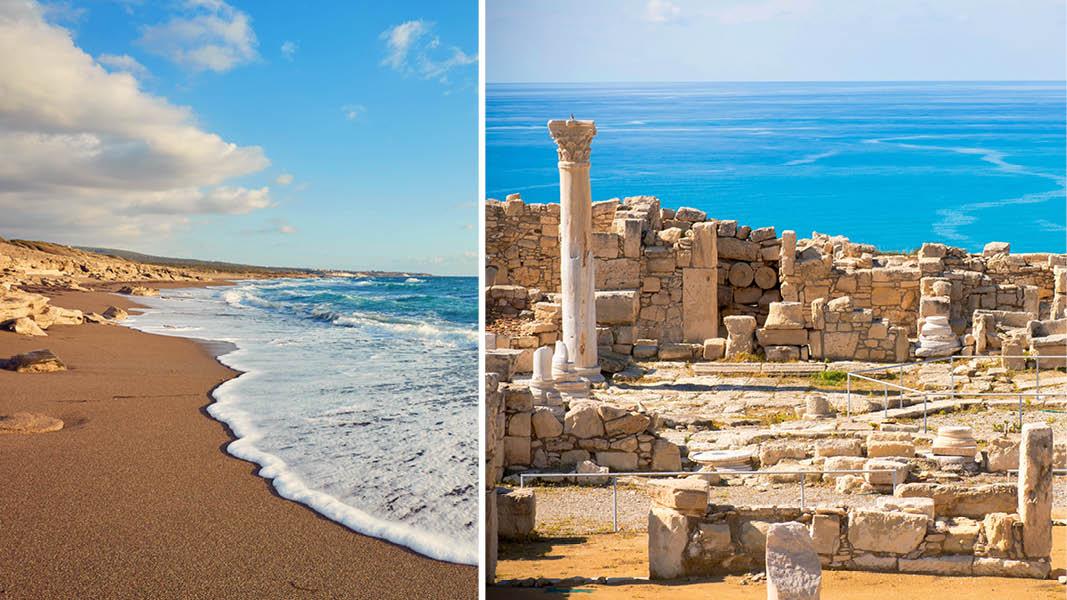 Paphos Kourion ruiner, Cypern