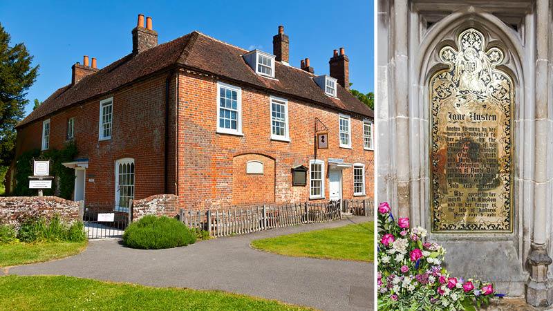 Besøg Jane Austens gravsted og tidligere hus