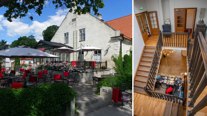 Arensburg spa og hotel udend�resomr�de og reception