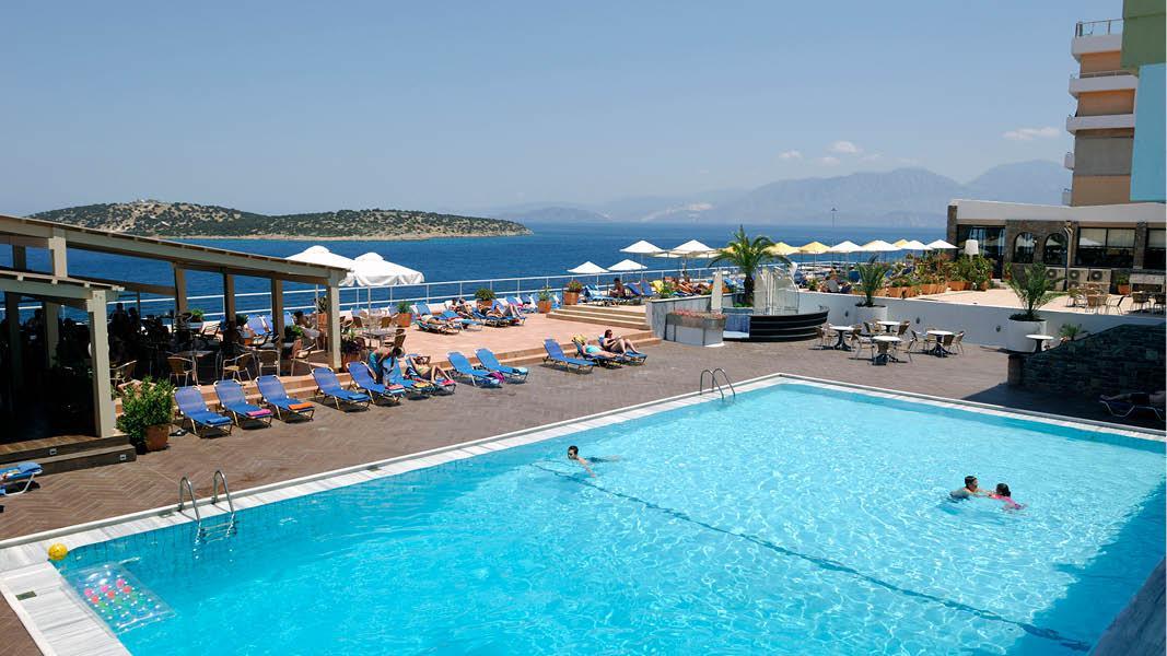 poolområde Hotel Hermes kreta