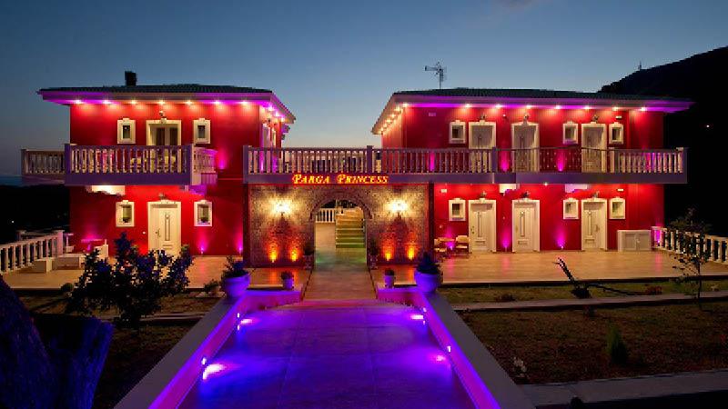 Hotel Parga Princess set udefra