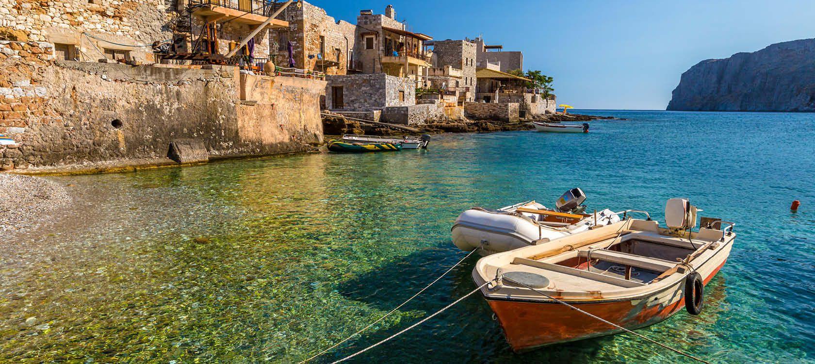 Havnen i Lakonia, Peloponnes, Grækkenland