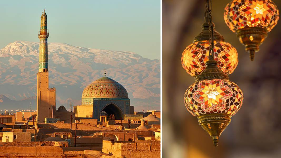 Den gamle by i Yazd i Iran
