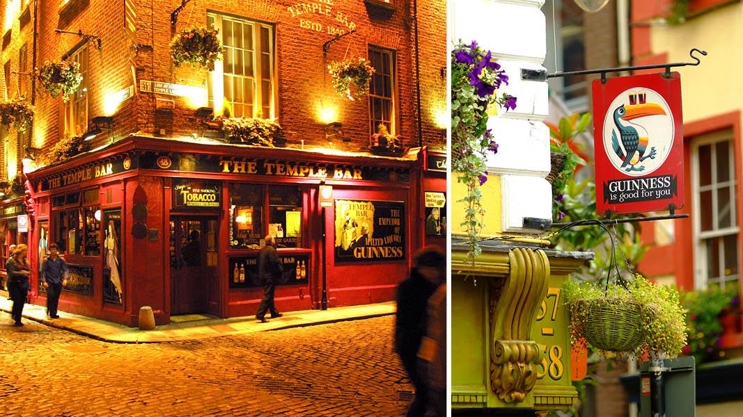 Temple bar i Dublin, Irland
