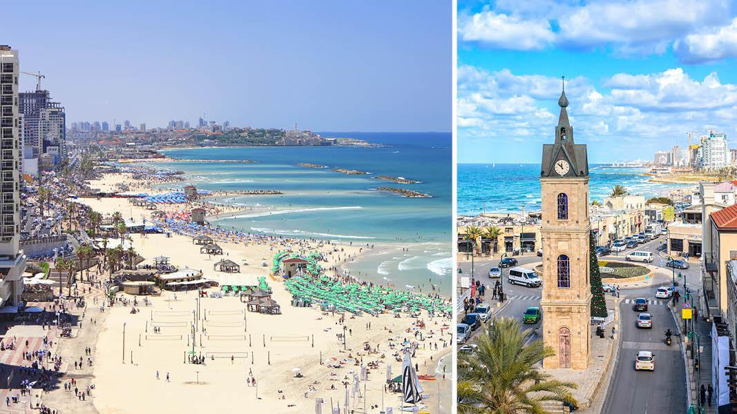 Israel rejse, Israel ferie, Det Hellige Land, Tel Aviv, strand, storby