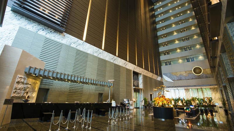Reception og lobby p� Hotel Villa Fontaine Shiodome