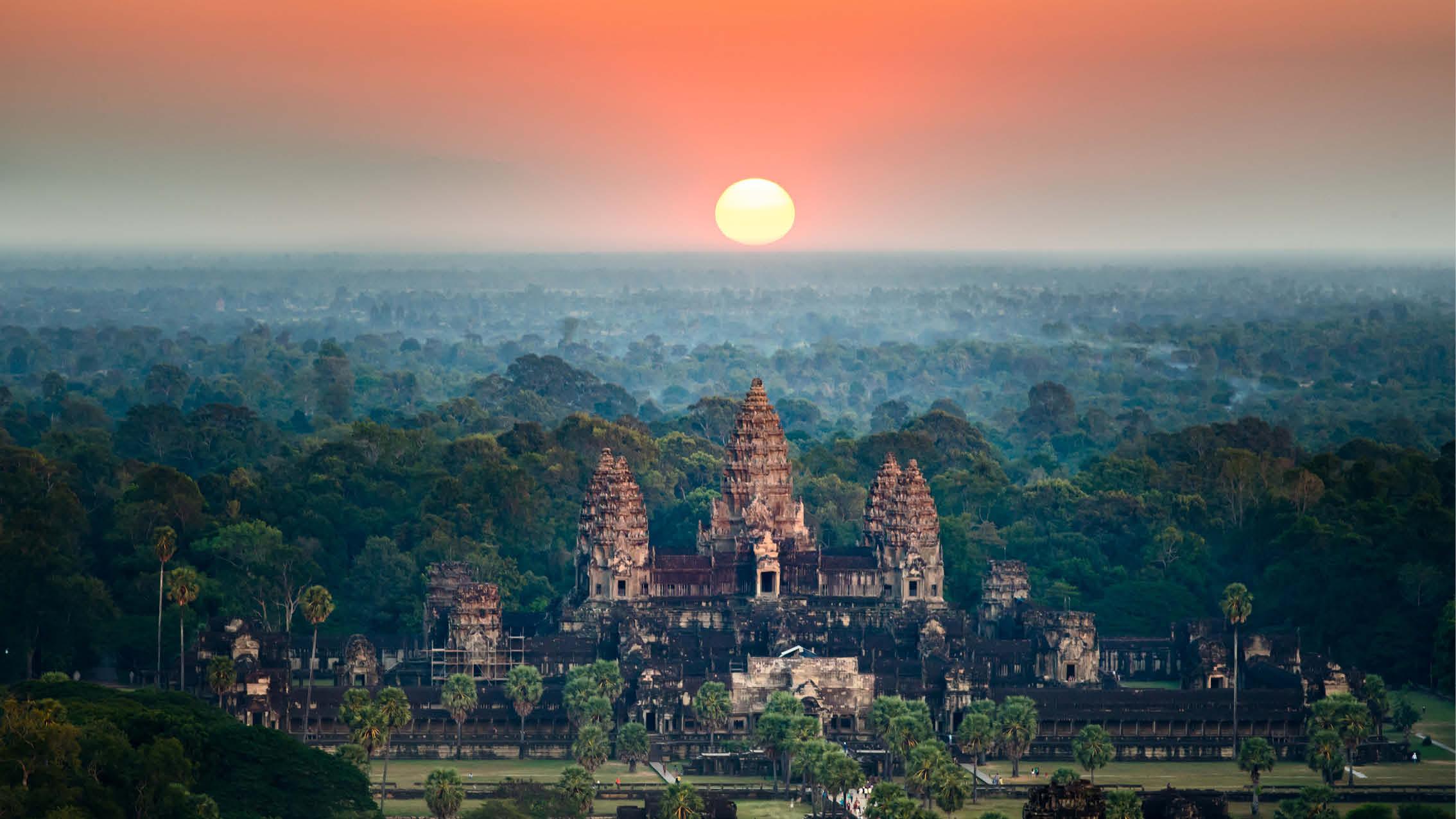 Angkor-templerne i Cambodia