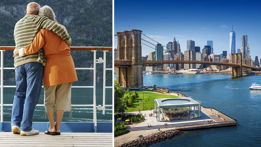 Brooklyn Bridge, Nordatlantisk krydstogt til New york
