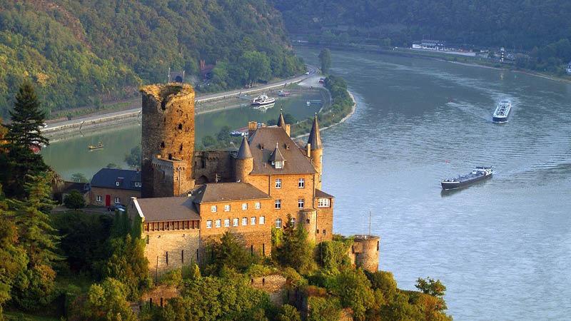 Burg Katz, Rhinen