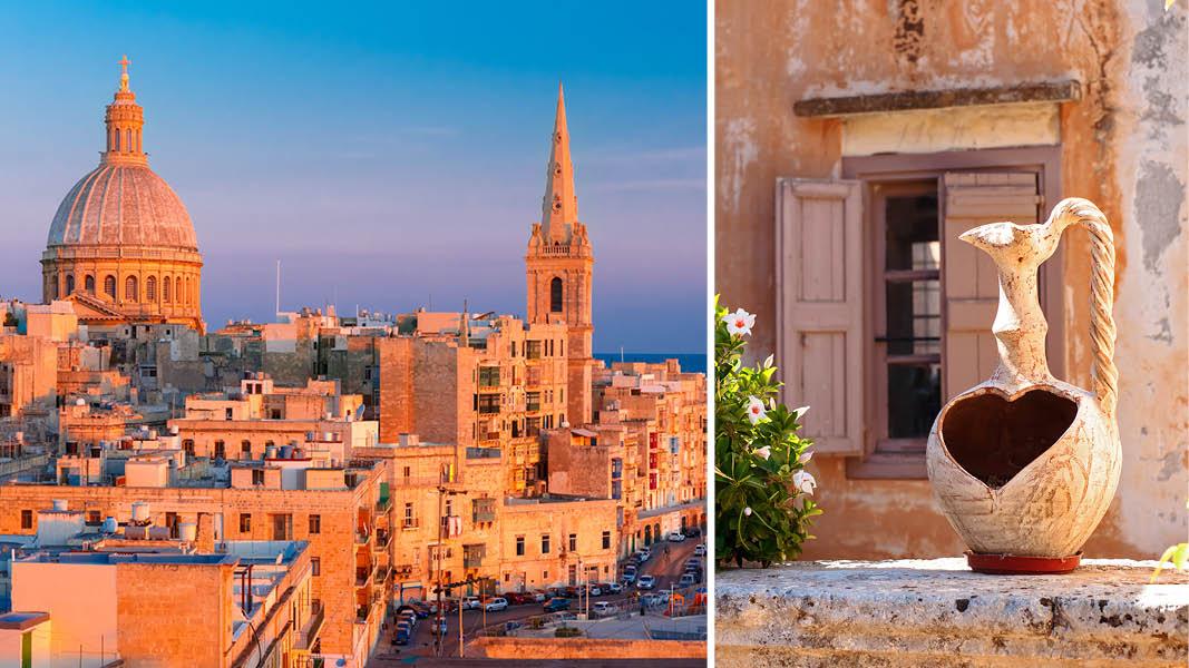 Valletta, Malta, Kirke, havn