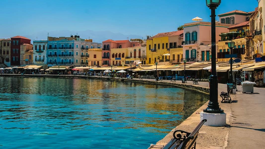 Kreta, Chania, havn, cafe