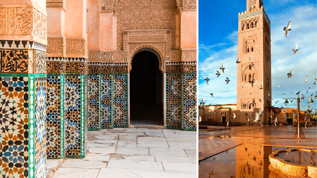 Koutoubia Moské i Marrakech, Marokko