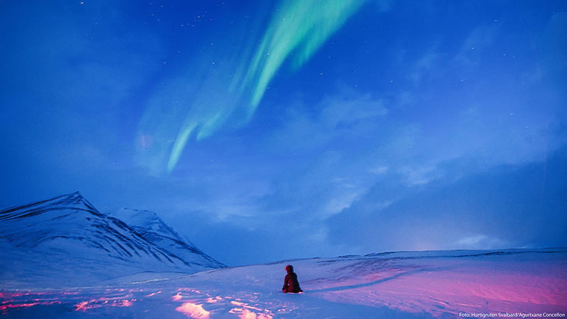 Nordlys i Svalbard, Norge