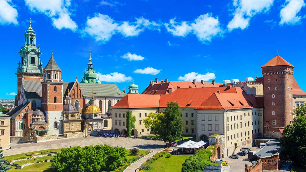 Polen Krakow udsigt over byen
