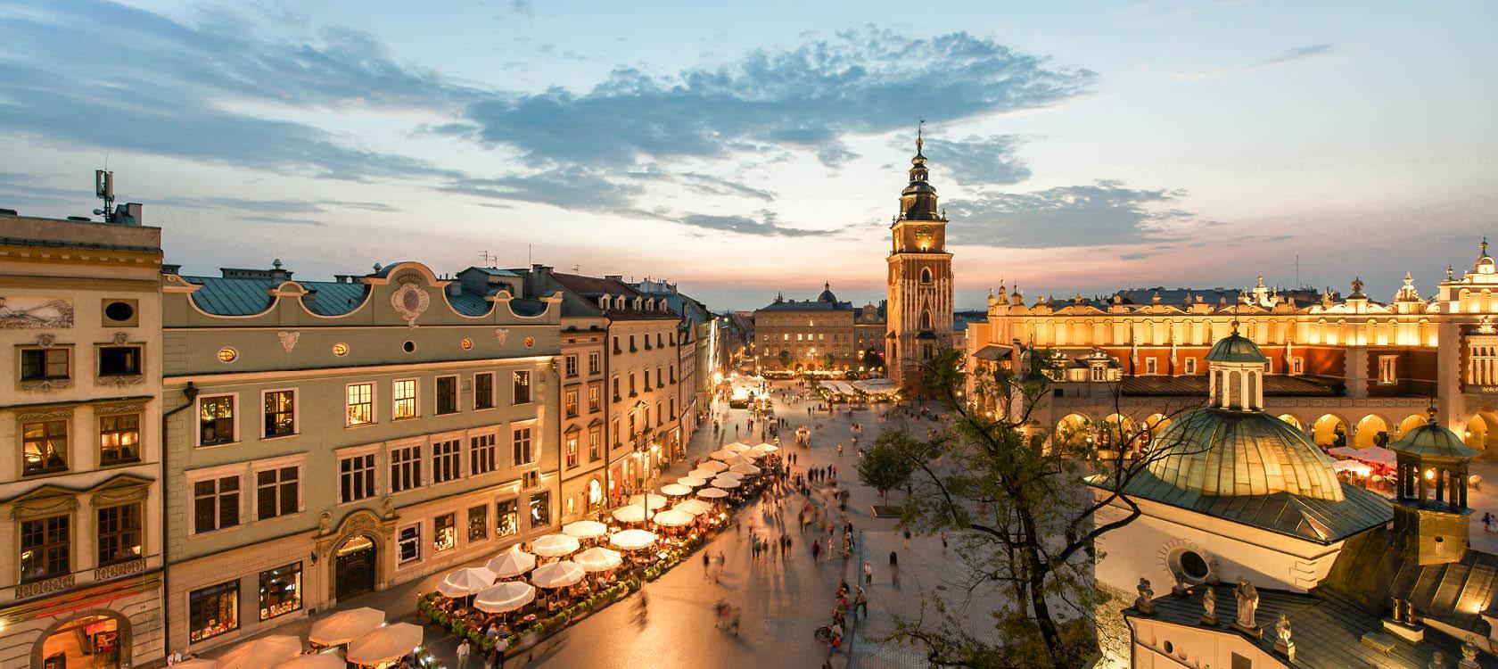 Udsigt over Krakow, Polen