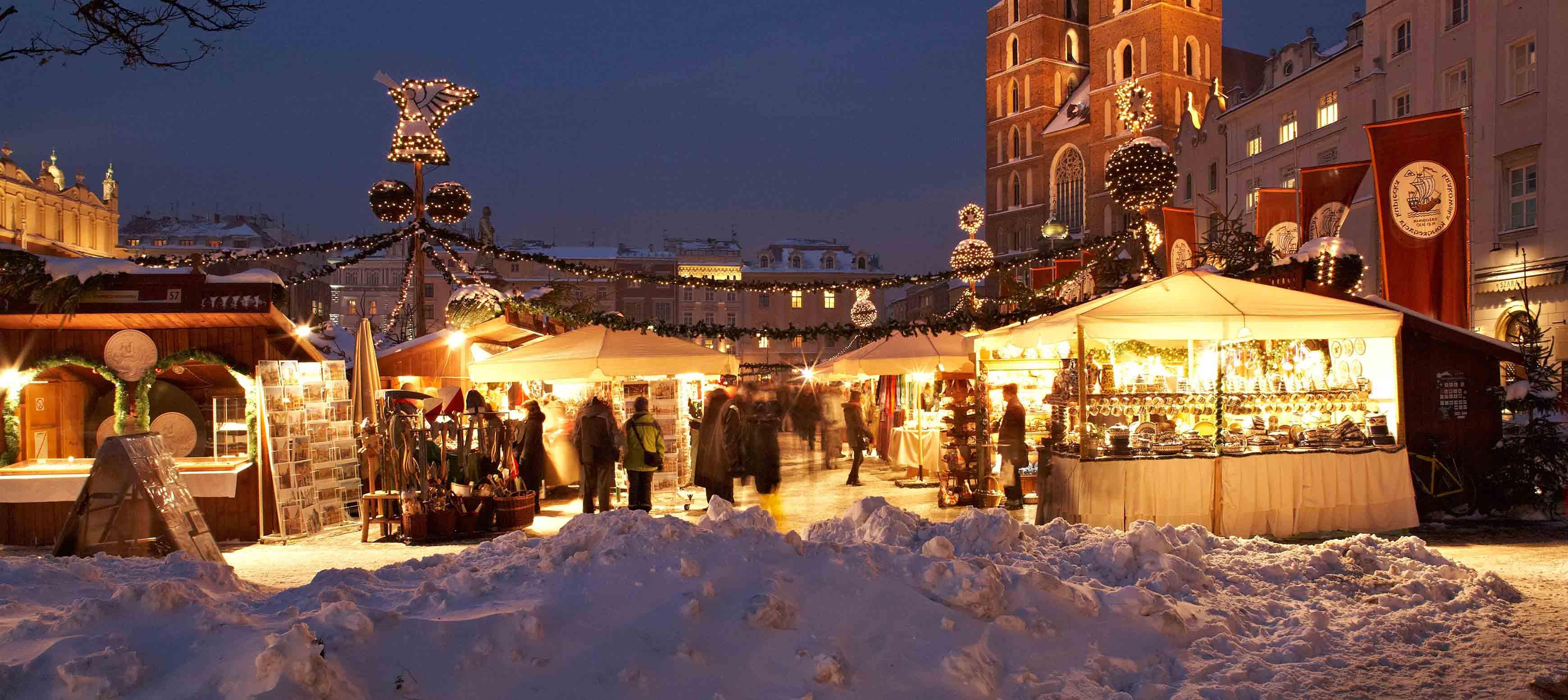 Tag på julemarked i Krakows sneklædte gader med Kulturrejser Europa