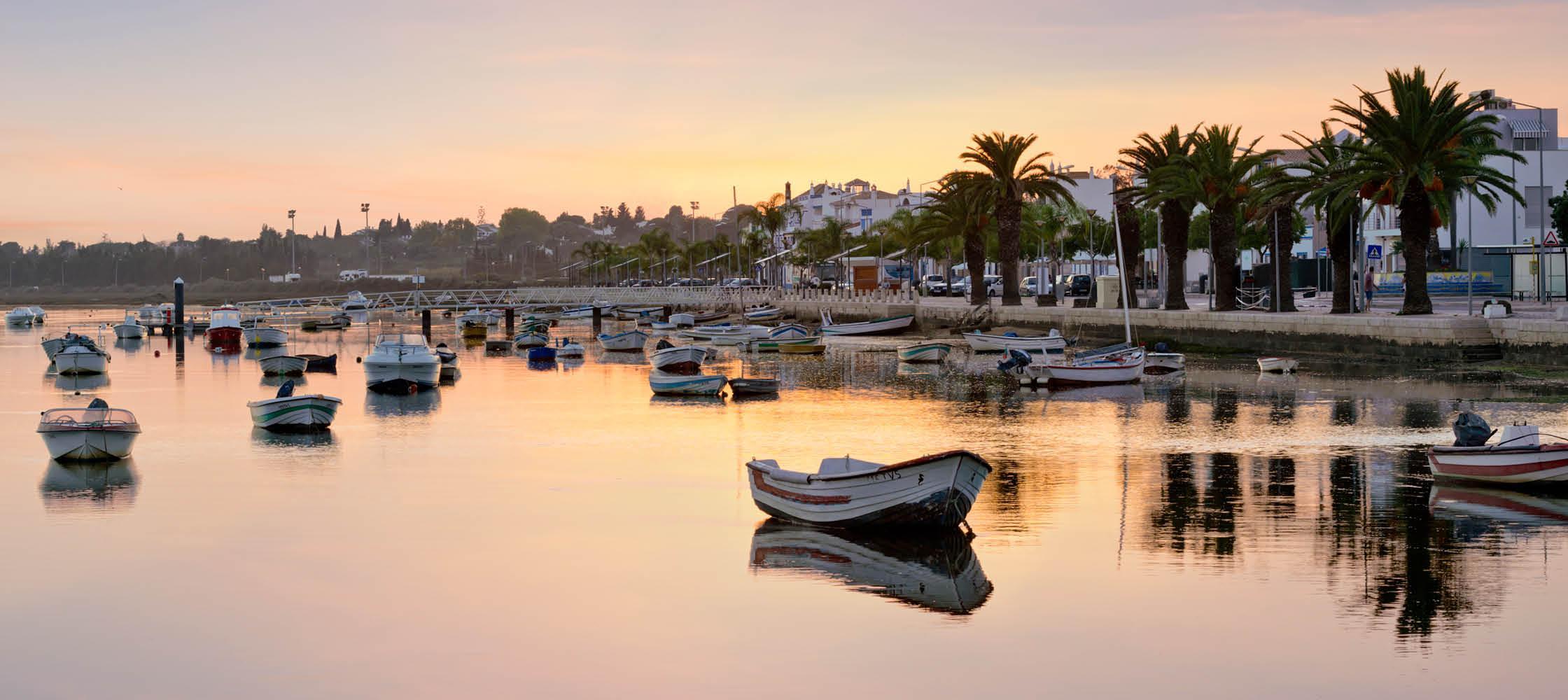 Idylliske Tavira i Algarve, Portugal