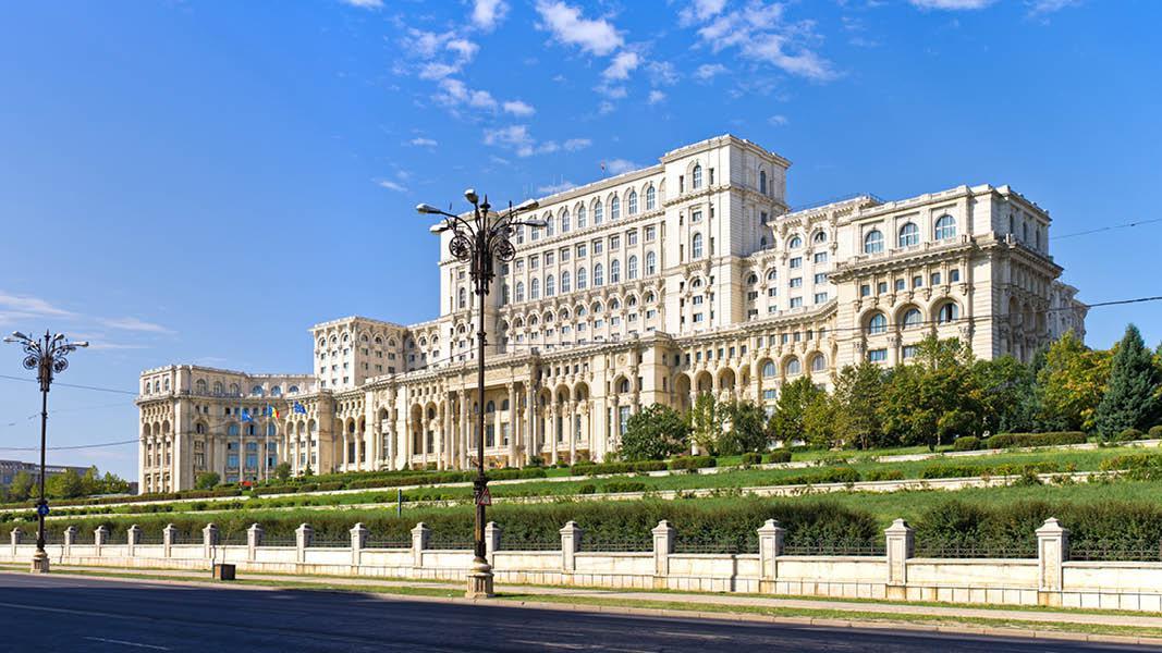 Parlementet i Bucharest, Rumænien