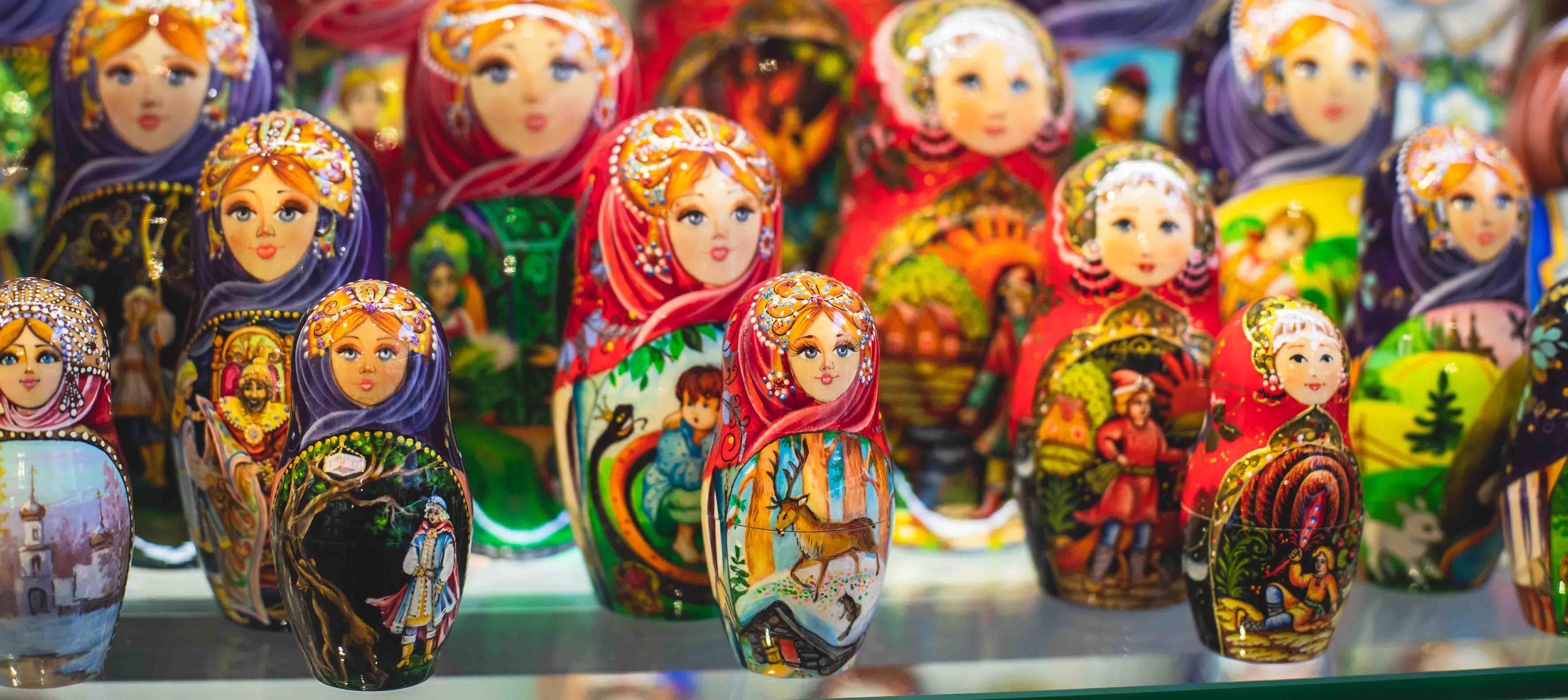 Matryoshka dukker i Rusland