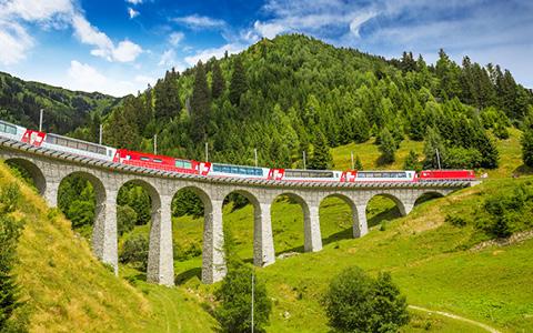 Alperne med Gletsjer-ekspressen