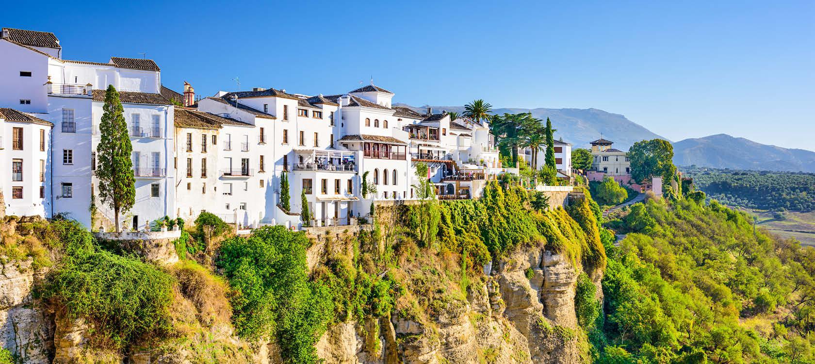 Den hvide bjergby Ronda i Andalusien, Spanien